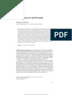 International Law and Terrorism