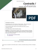 Contrails ! Bosch VE Inection Pump