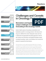 Challenges and Caveats in Oncology Forecasting