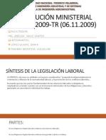 Legislación Lab. Resolución Ministerial