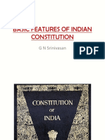 Basic Features of Indian Constitution (Ref by j Walia)