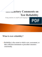 01 Introduction to Test Reliability