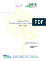 Nicaragua. Informe c.exterior. 2015
