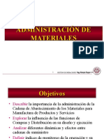 2. Administracioìn de Materiales