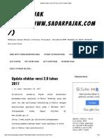 Update Efaktur Versi 2.0 Tahun 2017 _ Sadar Pajak