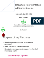 Chemical Structure Representation and Search Systems