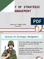 History of Strategic Management