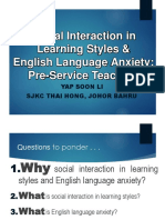 Learning Styles English Anxiety