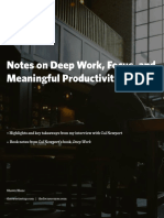 Notes on Deep Work and Focus and Meaningful Productivity