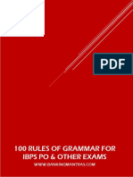 100 Rules of Grammar by Banking Mantras