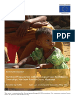 Acf 2012 Myanmar Nutrition (a1y) Evaluation 2012 Full Report