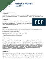 OMA - XVIII Olimpíada Matemática Argentina. Certamen Nacional (9)