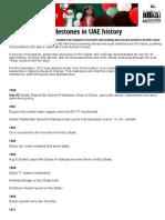 Know the Key Milestones in UAE History _ GulfNews