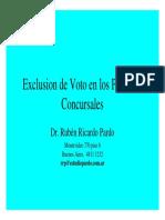 Exclusion de Voto en Los Procesos Concursales