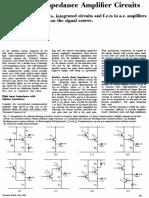 High Input-Impedance Amplifier Circuits