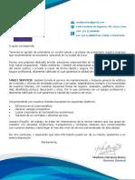 Carta de Presentacion General - MABIJ SERVICE SAC
