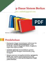 1 Konsep Dasar Sistem Berkas