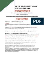 Modele Reglement Concours Com1grand
