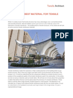 WHICH IS THE BEST MATERIAL FOR TENSILE STRUCTURE