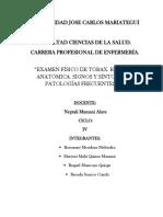 Examen Fisico Del Torax Semiologia