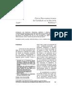 Carta Iberoamericana de Calidad de Gestion Pública