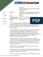 Procurement Notice - Mozambique 3-29-03-2012