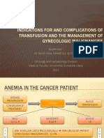 Indications for and Complications of Transfusion and The