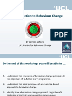 A Better Start - Introduction to Behaviour Change
