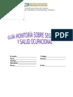 Guía Monitoria sobre seguridad y salud ocupacional