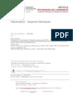 Décantation - Aspects Théoriques