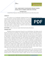 22 Format Hum-A Study of Academic Achievement of Senior Secondary School Students in Relation to Their Computer Attitude