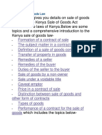 Kenya Sale of Goods Law