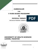 Revised Curriculum DPT-UHS(15!09!15)