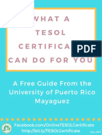 Uprm What a Tesol Certificate Can Do for You