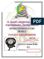 Physics Investigatory Project(XII) Tangent Galvanometer