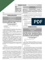 Decreto de Ampliación de Convocatoria de la Primera Legislatura Ordinaria del Período Anual de Sesiones 2017 - 2018
