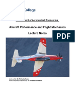 AircraftPerformance and FlightMechanics-LectureNotes