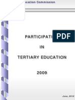 Participation in Tertiary Education 2009