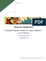 El Ejercito Popular creado por Largo Caballero