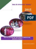 Informe Archivo Pasivo - Historias Clinicas