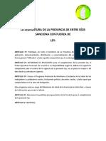 Proyecto de Ley Glifosato