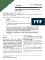 25.Risk Factors for Immediate Postpartum Hemorrhages in the Maternity of the University Teaching Hospital of Parakou 2161 0932 1000284