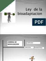 Ley de La Bioadaptacion