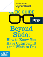 Geek Guide - Beyond Sudo