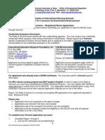 NU RN International Application CES