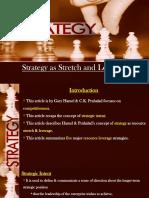Strategy as Stretch and Leverage - SHRM - Niyas