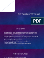 How Do Leaders Think (Ppt)