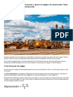 ¿Cómo Calcular Los Costos de Poseer y Operar de Equipos de Construcción_ - Clase Ejecutiva _ Clase Ejecutiva
