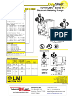 LMI Roytronic Series P Metering Pump Datasheet