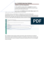 Procedure - Profitability Reporting in ByDesign - Sample